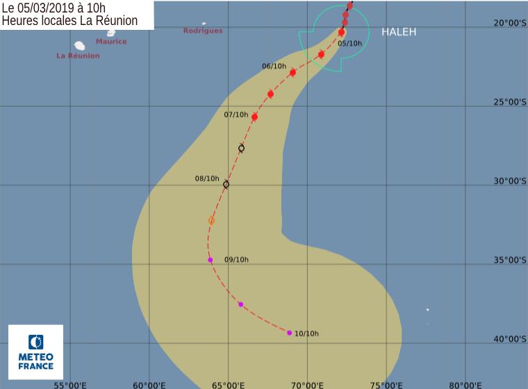 trajectoire cyclone haleh