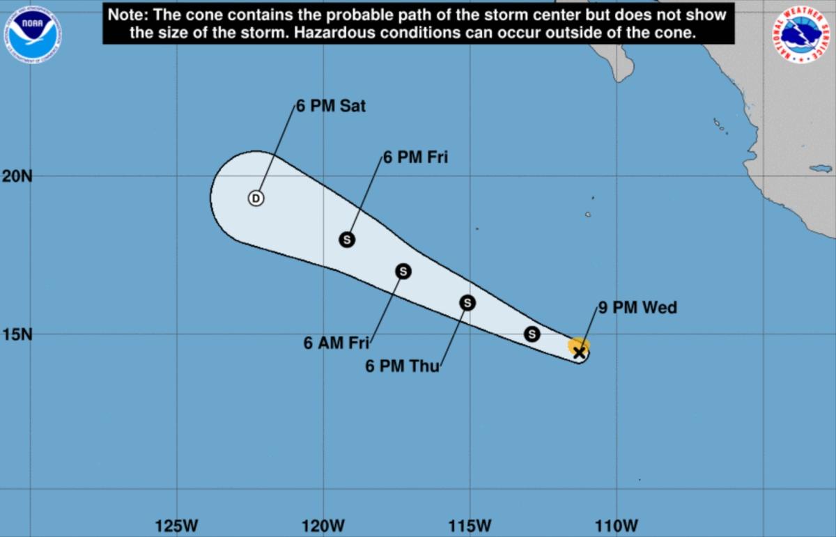 Track tropical storm alvin
