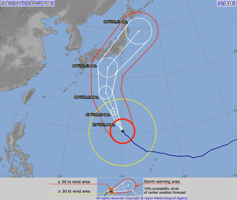 Track typhoon hagibis