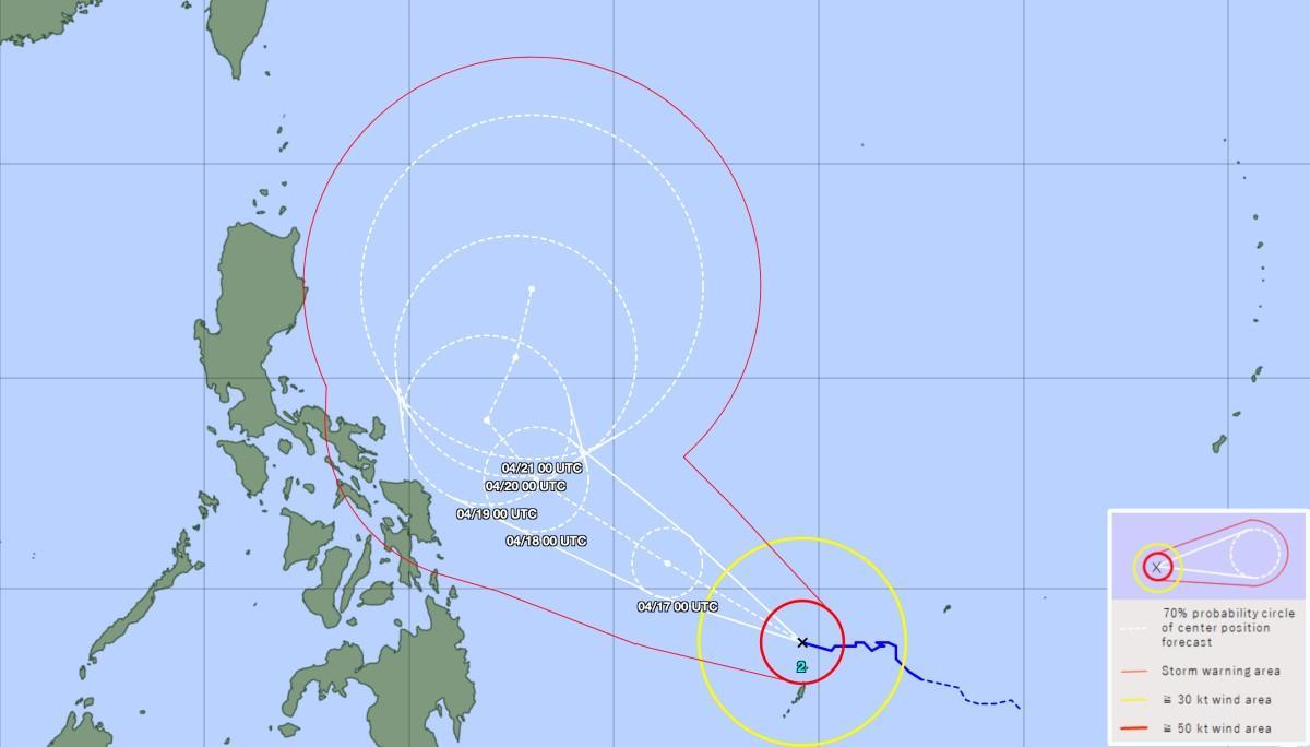 Track typhoon surigae