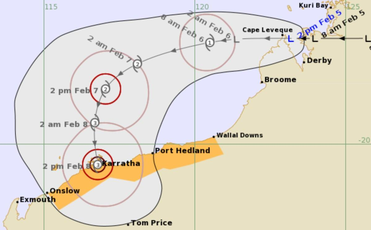 track tropical cyclone damien