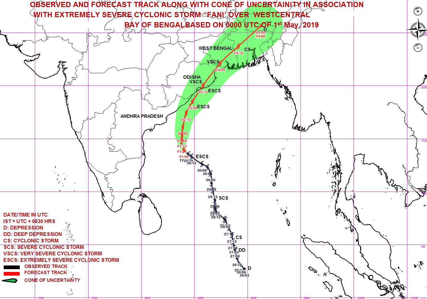 800 000 personnes évacuées à l'approche du cyclone Fani — Inde