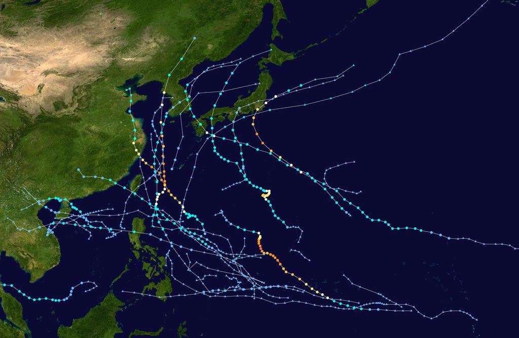 Trajectoire typhon 2019