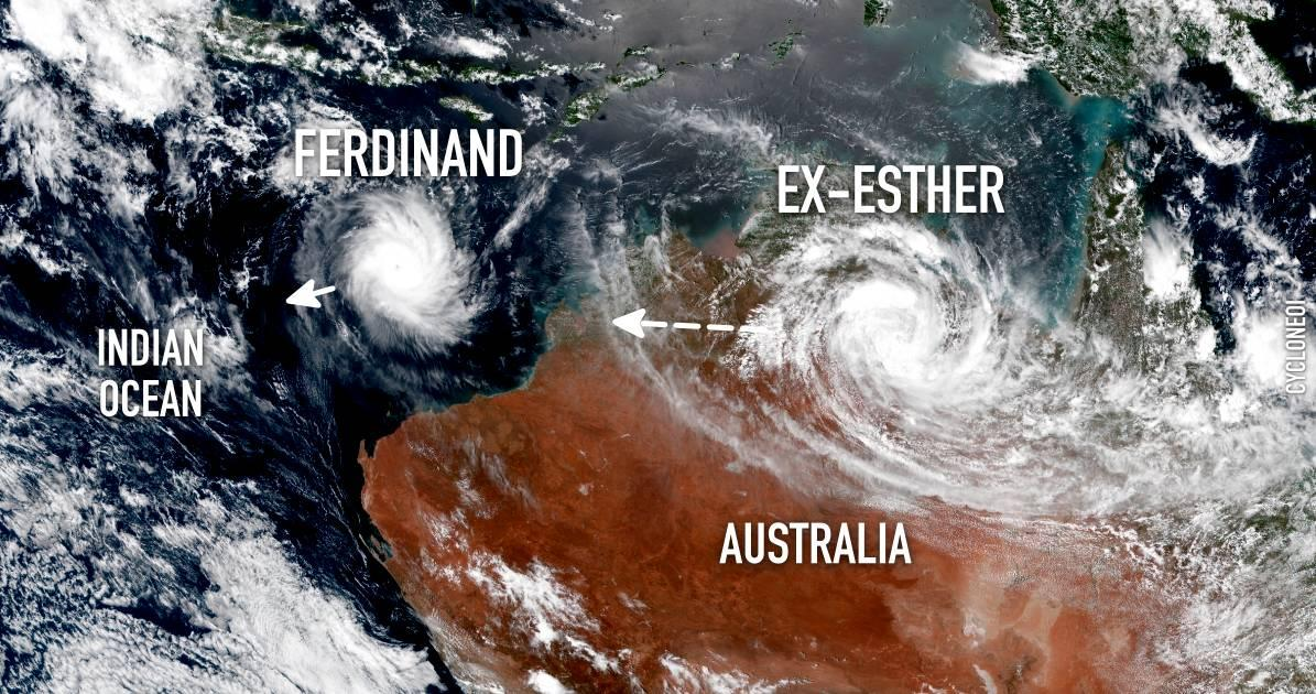 Tropical cyclone ferdinand tropical cyclone esther