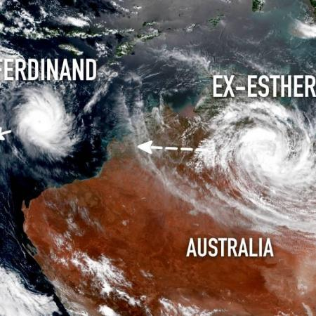 Tropical cyclone ferdinand tropical cyclone esther