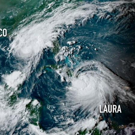 Tropical storm laura and marco