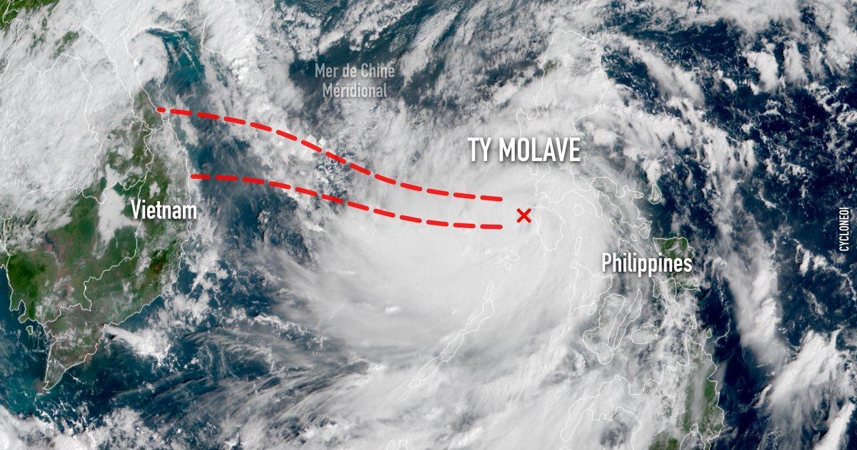 Typhon molave vietnam philippines