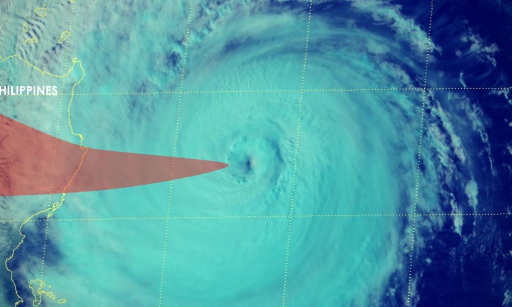 Typhon yutu en direction des philippines