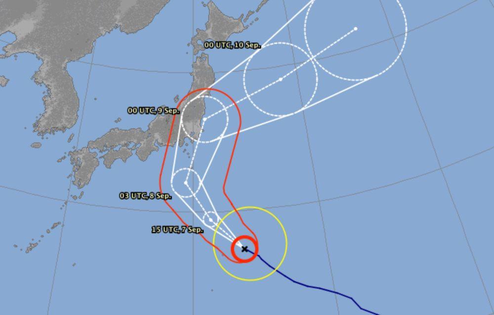 Typhoon faxai track