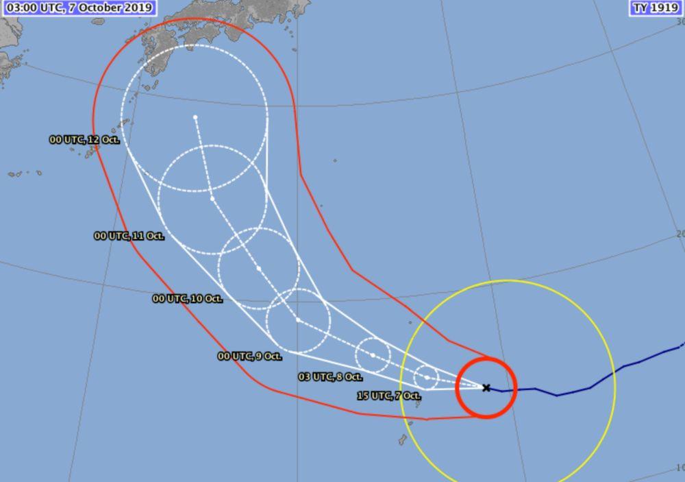 Typhoon hagibis track