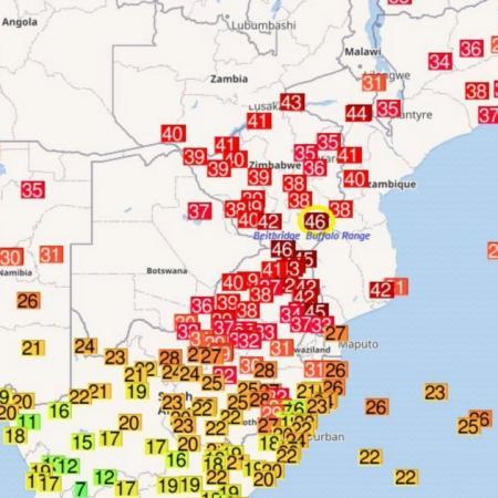 Vague de chaleur afrique australe