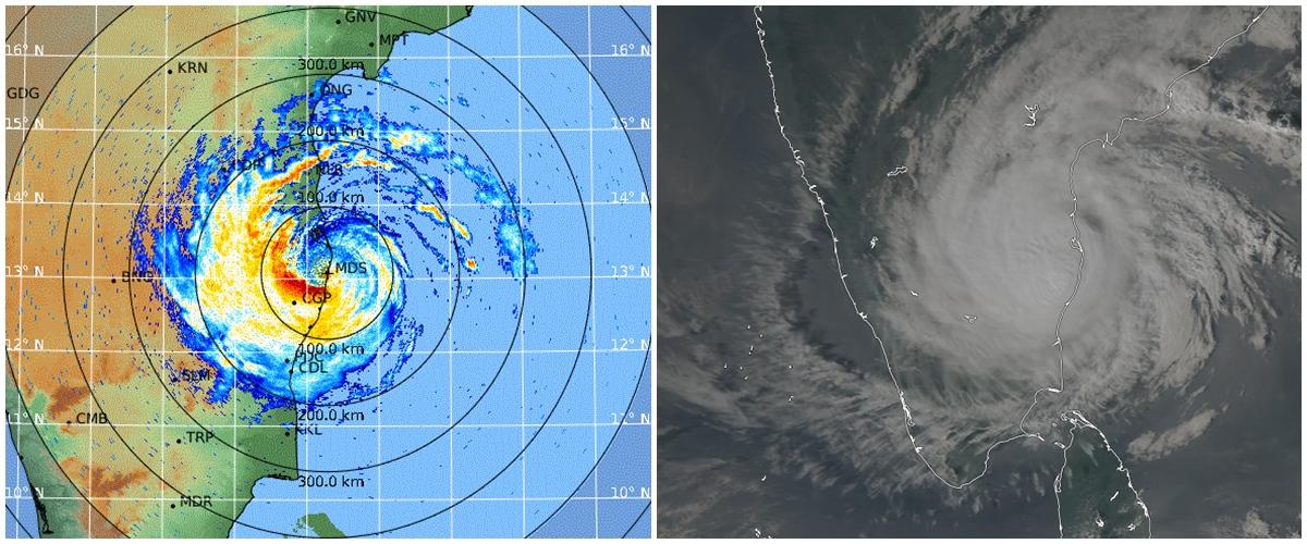 Cyclone Vardah en Inde