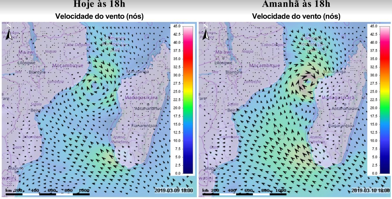 prévision des vents tempête IDAI
