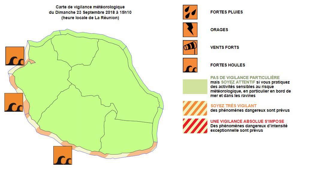 Vigilance forte houle à la Réunion ©Météo France