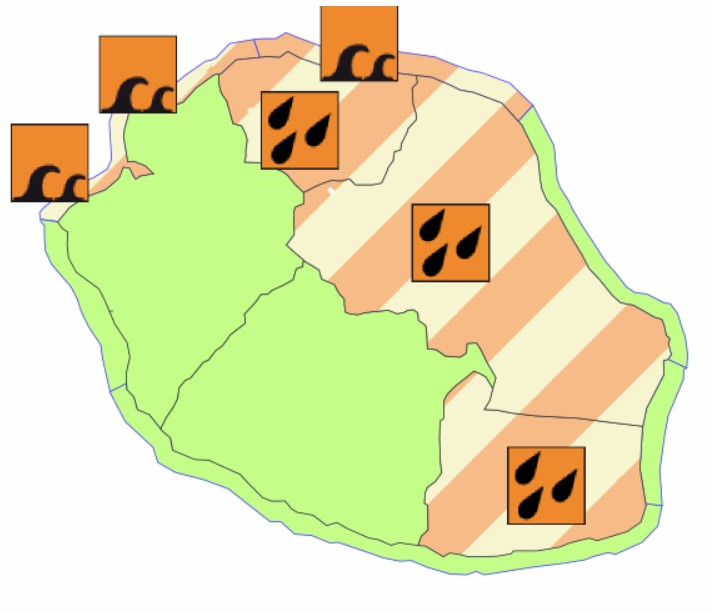 Etat des vigilances météorologiques à la Réunion ©Météo France
