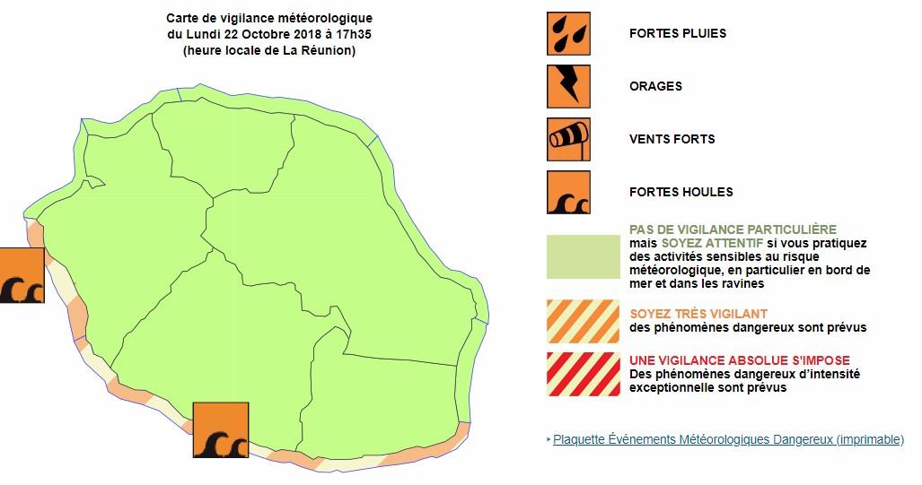Vigilance forte houle Réunion