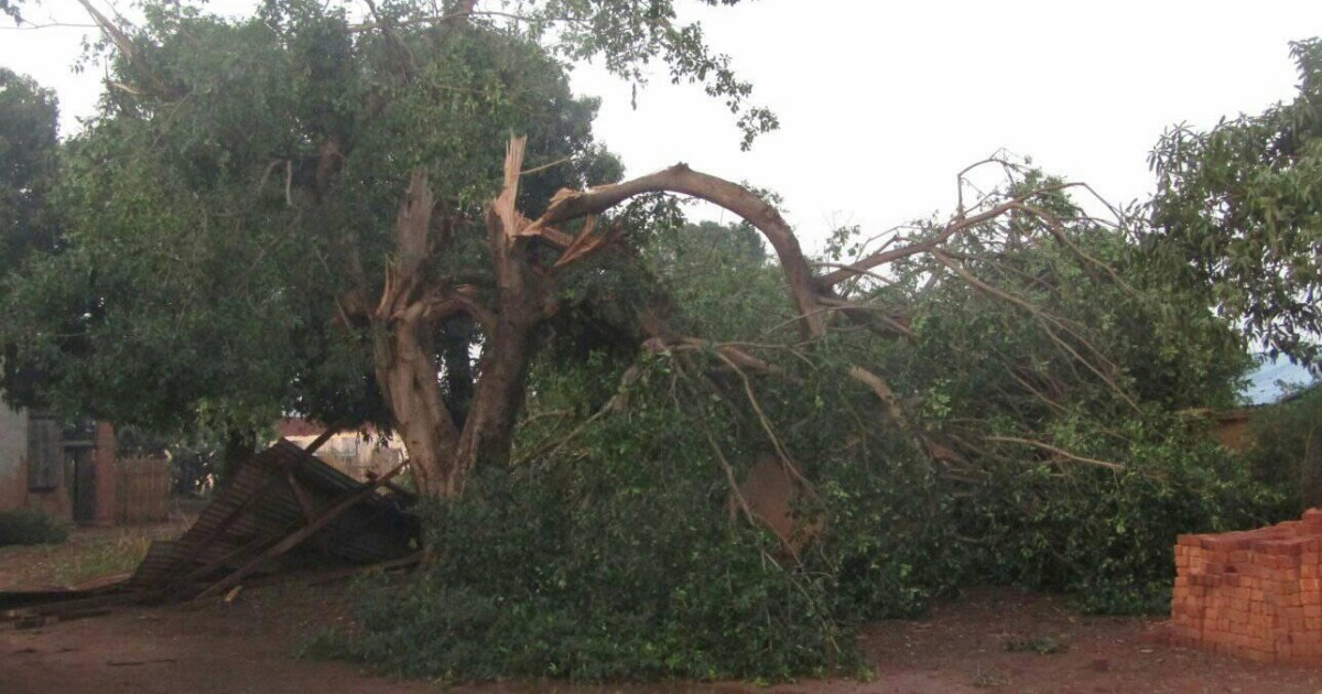 Violent orage a madagascar