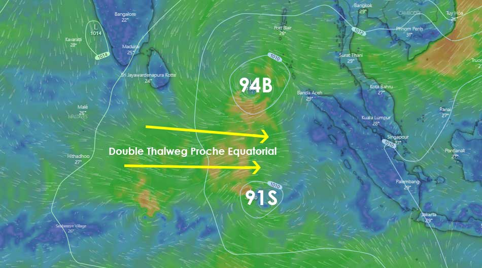 double thalweg proche équatorial