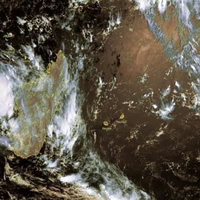 image satellite ocean indien