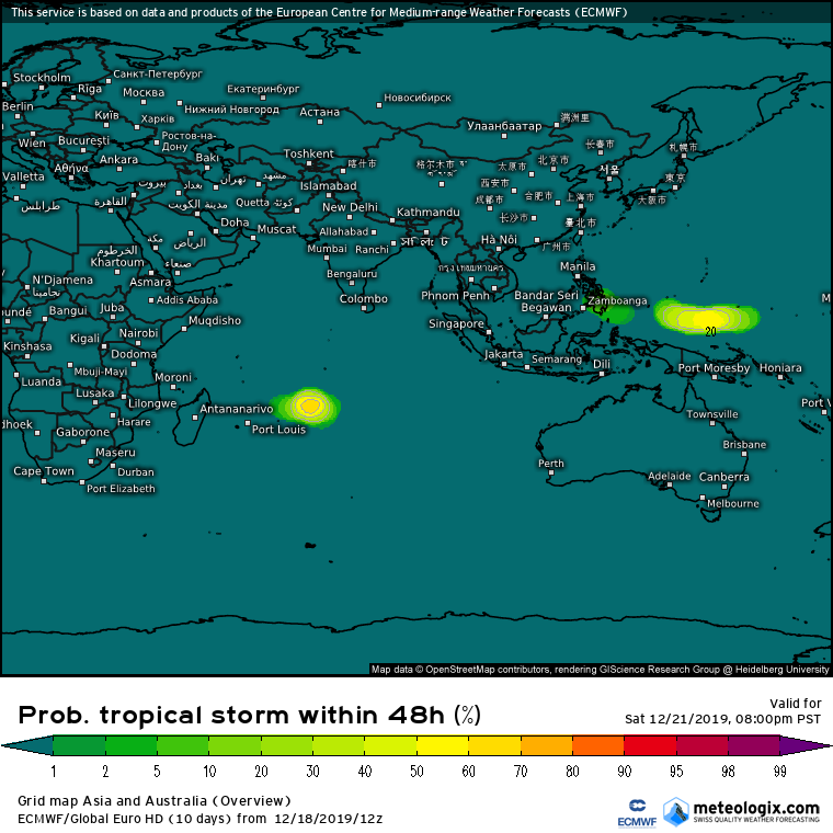 risque formation tempête tropical ocean indien ecmwf