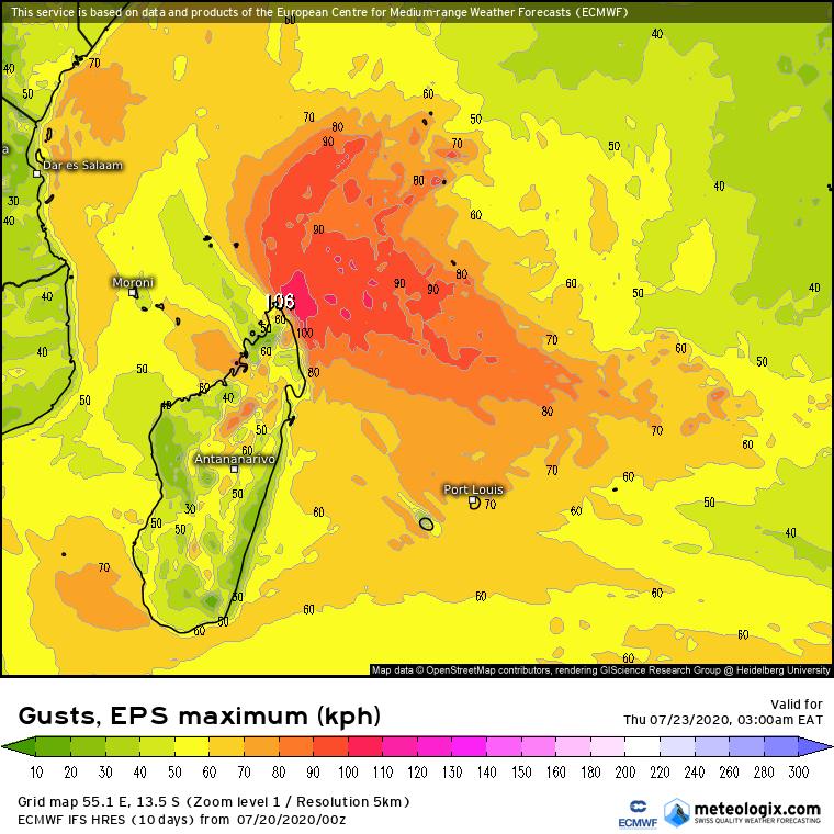 prevision rafale ocean indien