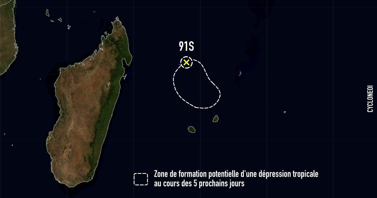 Zone de formation depression tropicale 91s