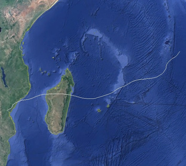 Trajectoire complète de BONITA (NOAA)
