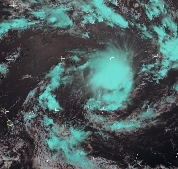 Dépression Tropicale au nord-est de Rodrigues ce 13/01/2018 à 06z (EUMETSAT)