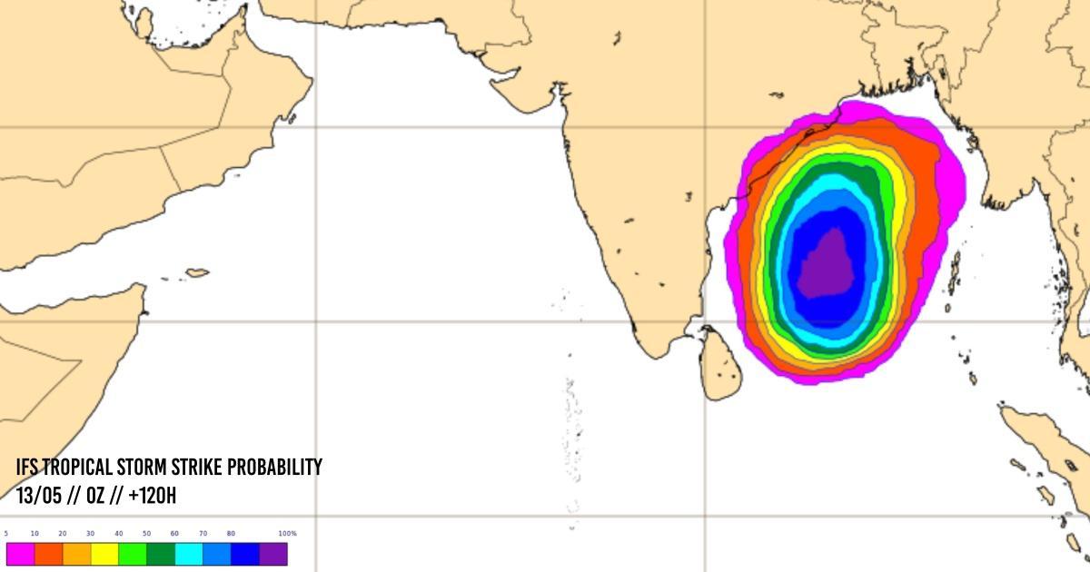 Activite cyclonique ocean indien nord