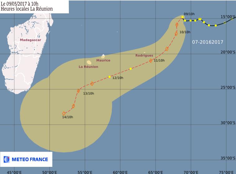 DT n°7 prévision Météo France du 09/03/2017 à 6z