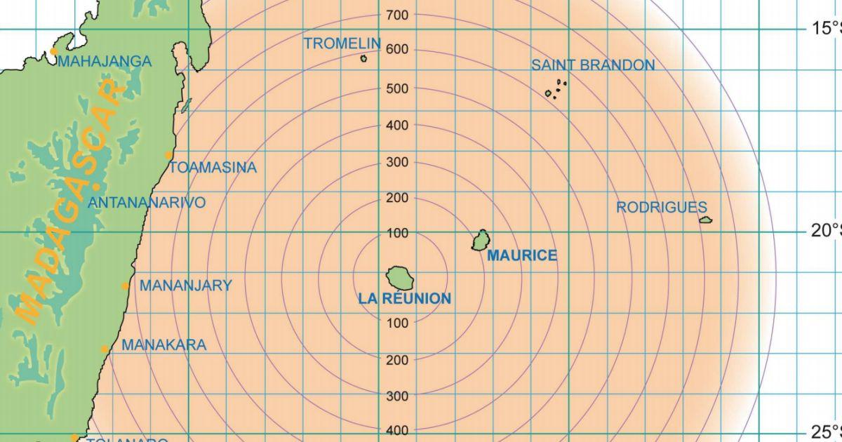 Carte trajectoire cyclone me te o france re union