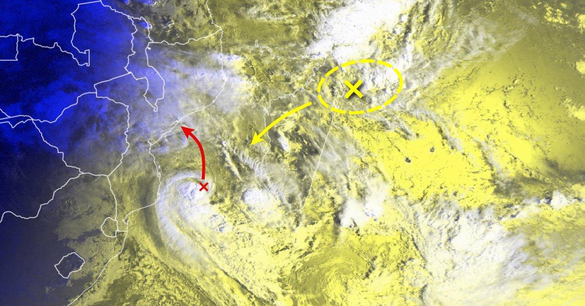 Future tempête Desmond et zone suspecte au nord-est de madagascar