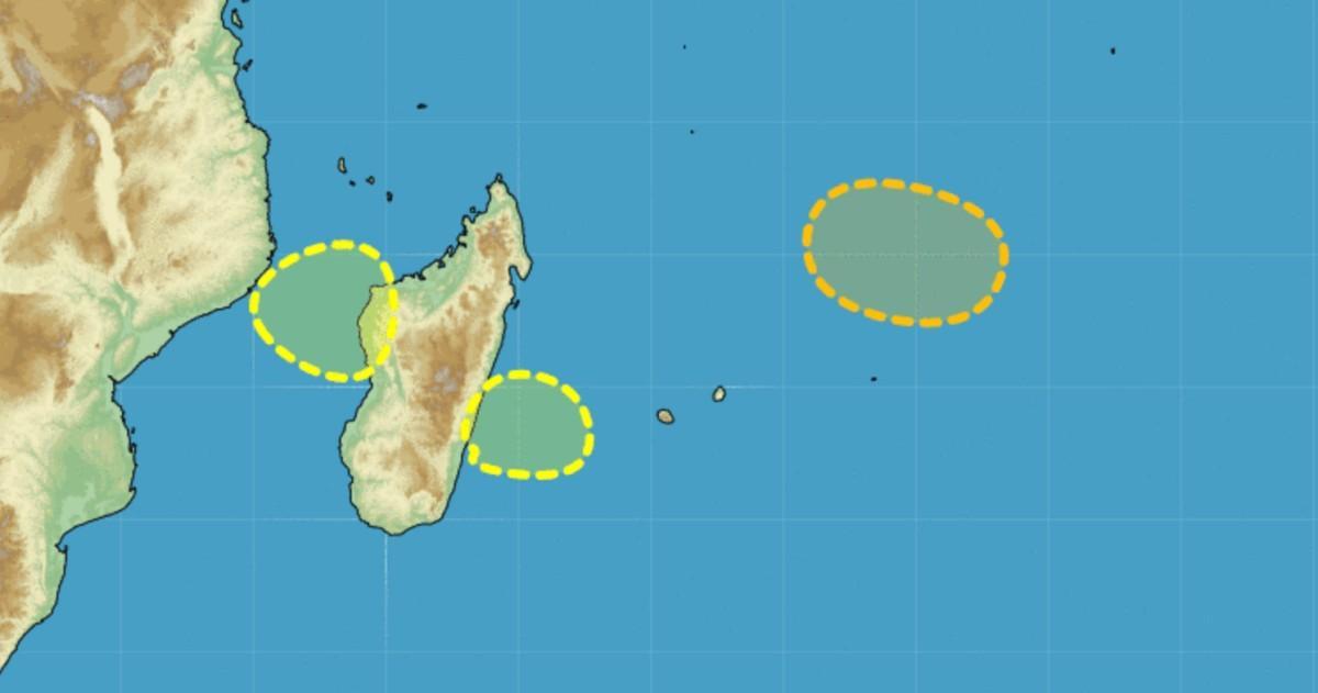 Cyclogenese au nord est des mascareignes