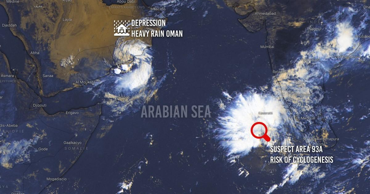 Cyclogenesis arabian sea
