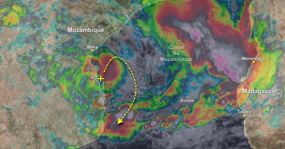 Depression sur terre canal du mozambique 1
