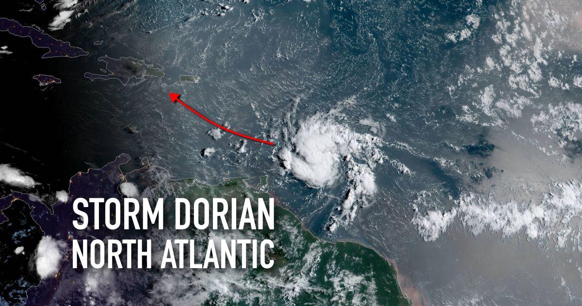 Dorian track storm