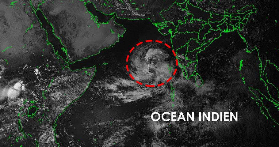 Activité cyclonique en cours dans l'océan indien nord