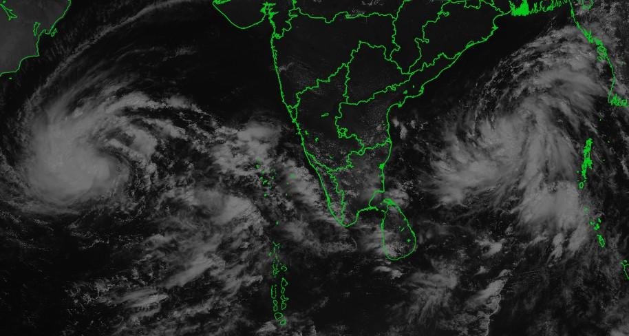 Tempête tropicale LUBAN et la peut-être future tempête TITLI