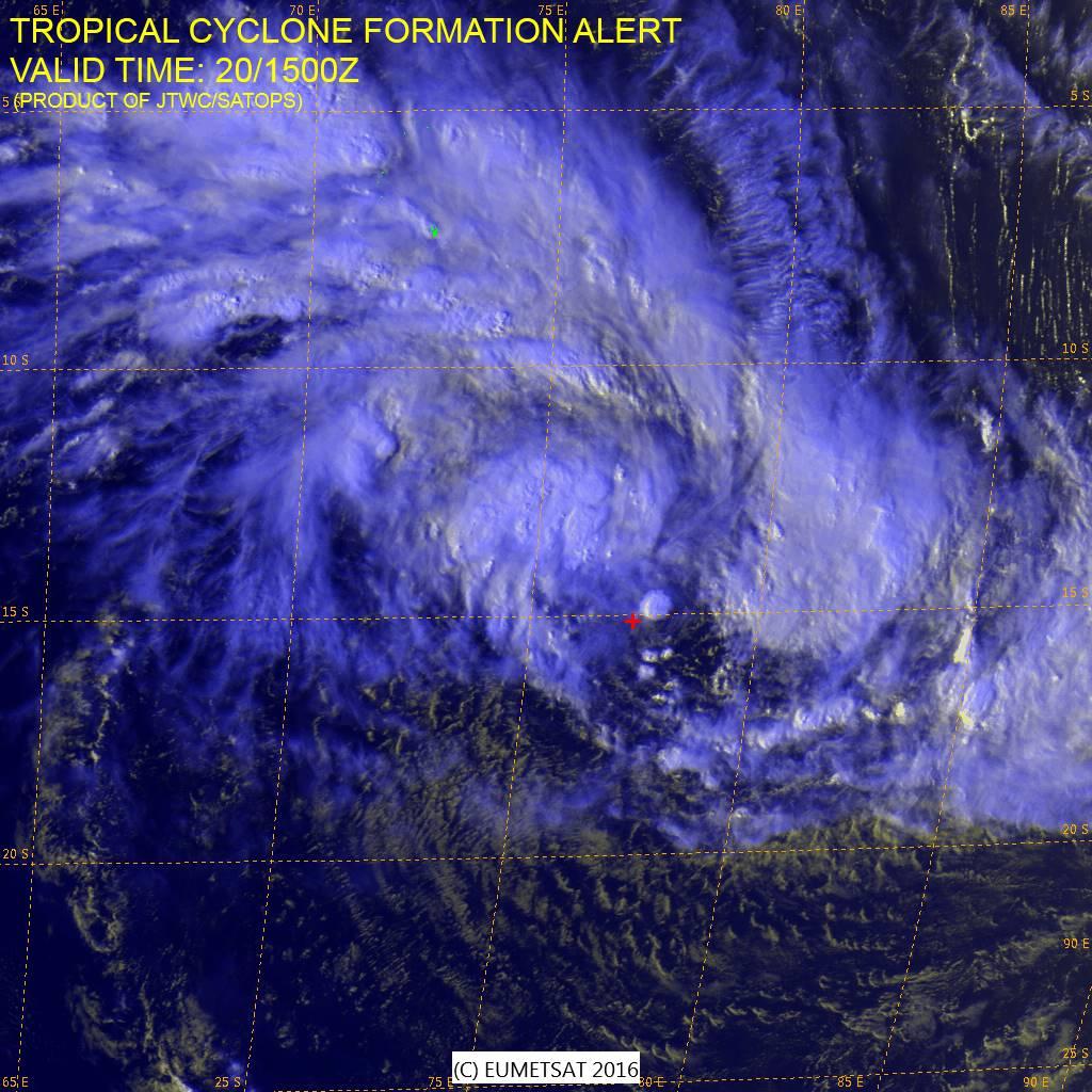 Image satellite de 90S du 20/01/16 à 12TU