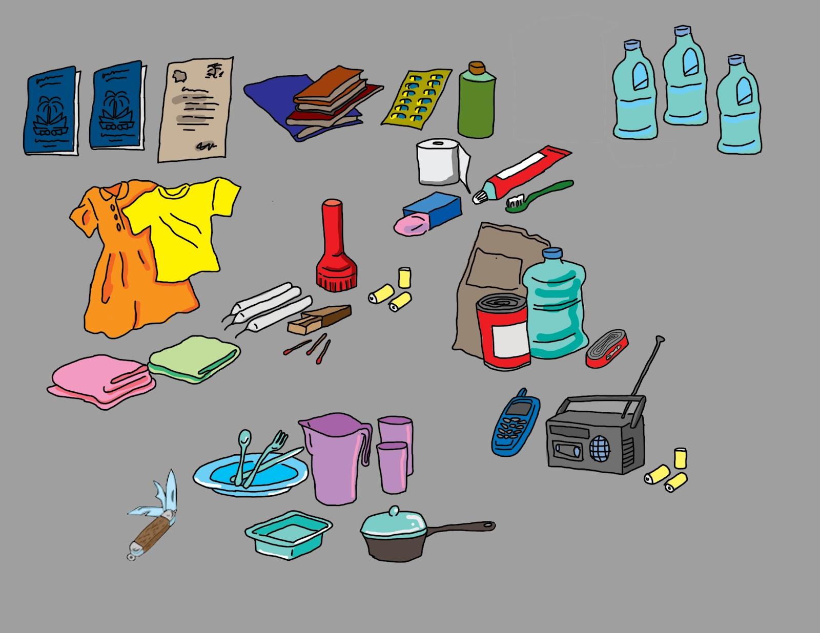 Kit d'urgence en cas de cyclone