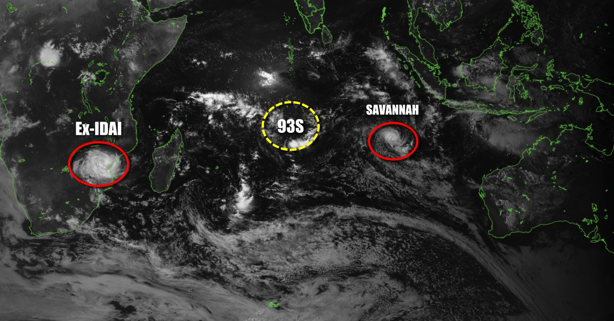 activité cyclonique ocean indien