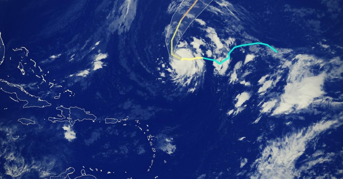 Oscar ouragan de categorie 1 arc des antilles