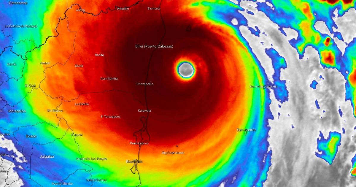 Ouragan categorie 5 iota nicaragua 1
