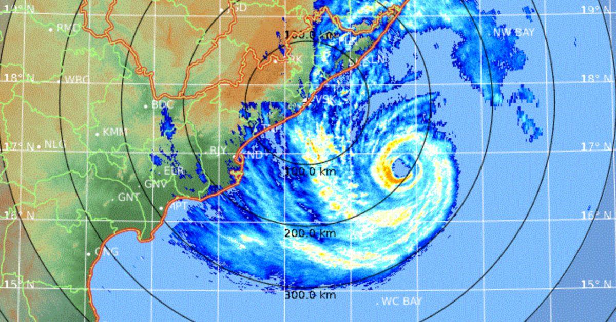 Radar cyclone fani