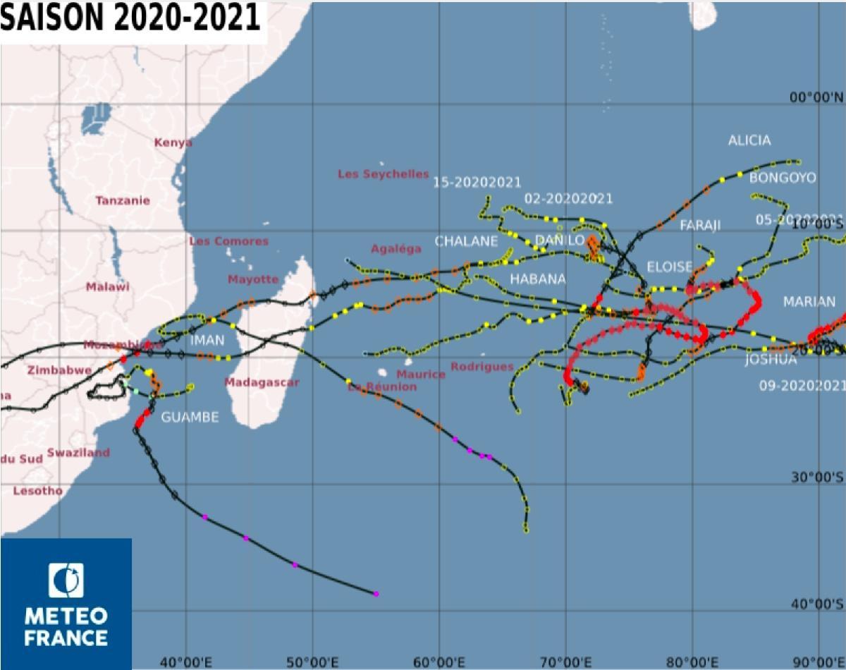 Saison cyclonique 2020 2021 reunion