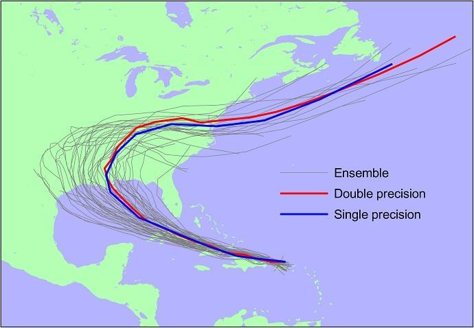 trajectoire ouragan laura avec la nouvelle maj de l'ecmwf