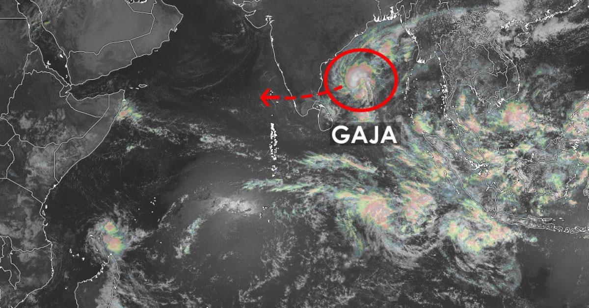 Tempete tropicale gaja menace l'inde