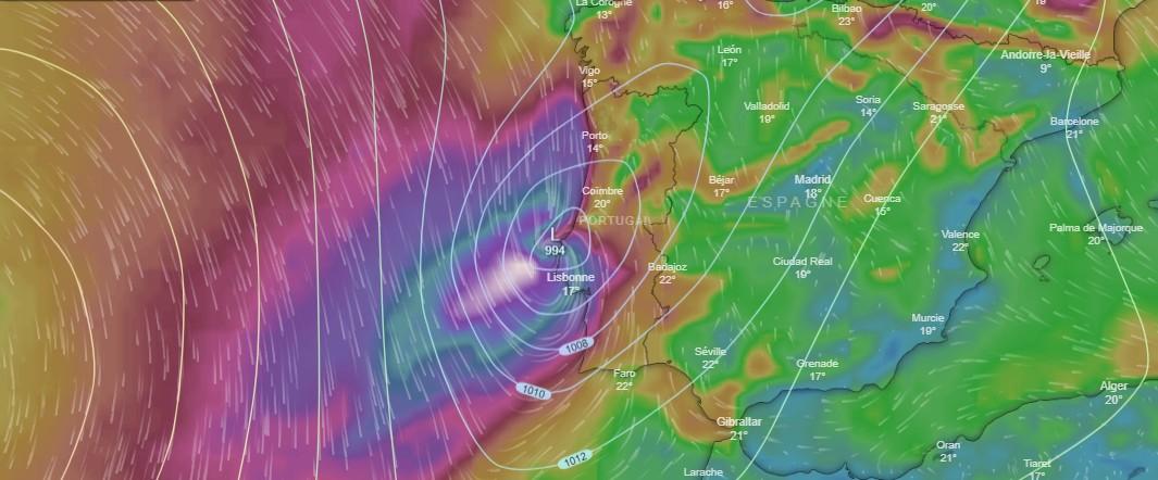 ouragan LESLIE sur le Portugal